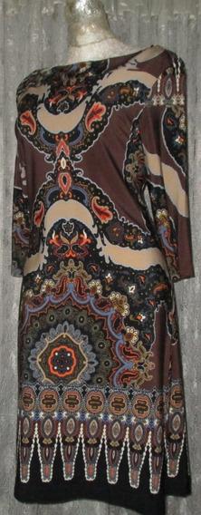Emma Vestido Estampado Corte Suelto Strech 9 Tiendademerry