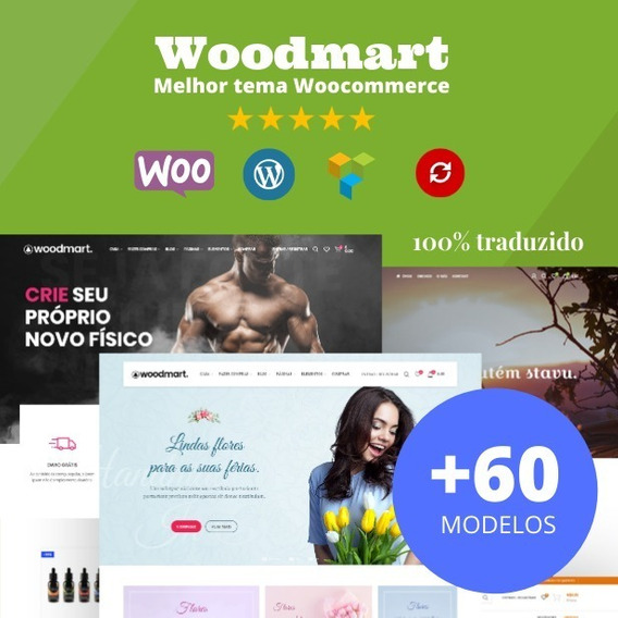 Tema Woodmart Wordpress Ecommerce Traduzido Ptbr