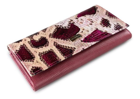 Billetera Miura Dama Mod. Giulia 100% Cuero Natural