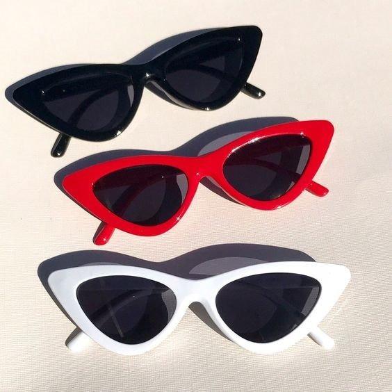 Óculos Sol Vintage Cat Eye Gatinho Pin Up 90s