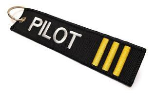Llavero Pilot Barras Amarillas