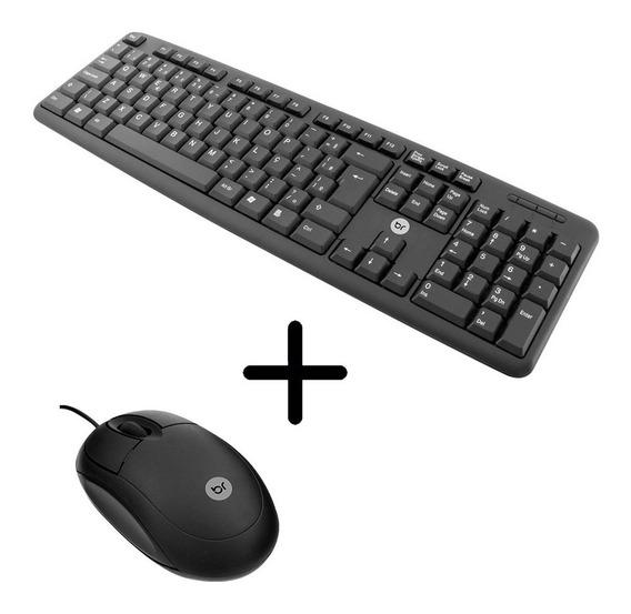 Kit Teclado - Abnt2 Mouse Optico Usb Distribuicao Revenda