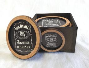 Porta Copos Bolacha Madeira Mdf Artesanato Cerveja Whisky
