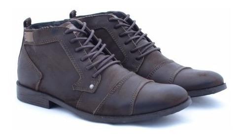Bota Coturno Sapato Masculina Cano Alto Estilo Confort 2019