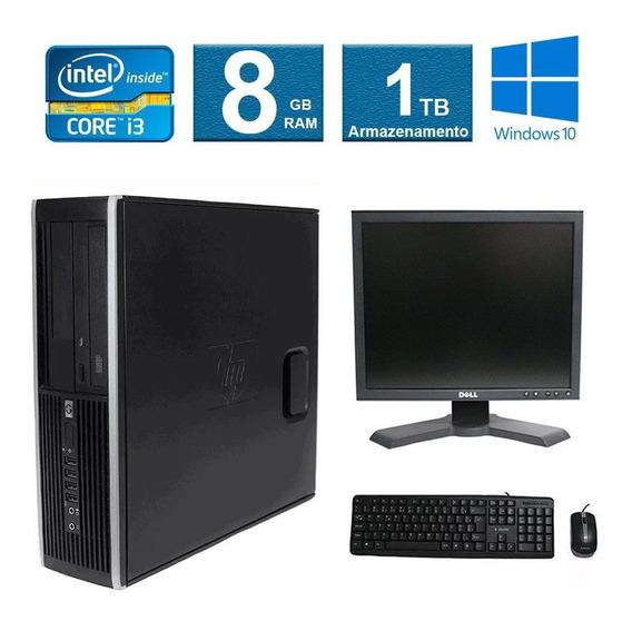 Computador Hp Elite 8300 I3 8gb 1tb Monitor 17 Polegadas