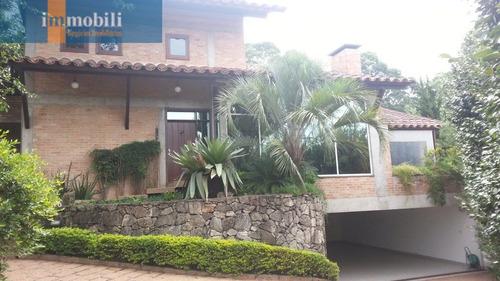 Imagem 1 de 15 de Linda Residência Rústica,4 Suites,armários,muita Madeira E Vidro,vista Privilegiada.miolo Da Granja. - Gv15671