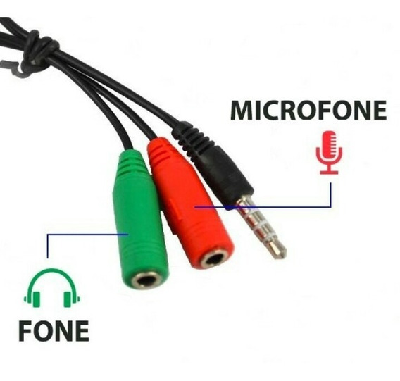 Cabo Adaptador P3 X P2 Fone Microfone Lapela No Celular A65