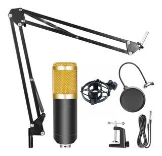 Kit Streaming Radio Locucion Microfono Condenser Brazo Filtro Araña Envio