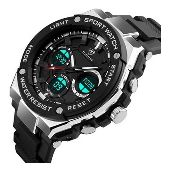 Relógio Masculino Tuguir Tg1187 Analogico Digital Prova Agua
