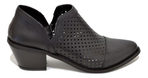 Zapatos Mujer Charrito Texanas Caladas Cuero Moda 2020 4534m