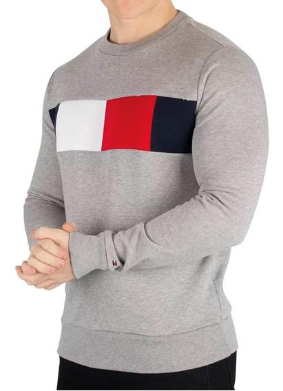 Blusa De Frio Flag Chest Logo Sweatshirt - Tommy Hilfiger