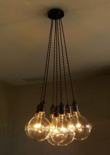 Lámpara Colgante Minimalista Incluye Focos Vintage Decoración Recámaras, Salas Somos Fabricantes