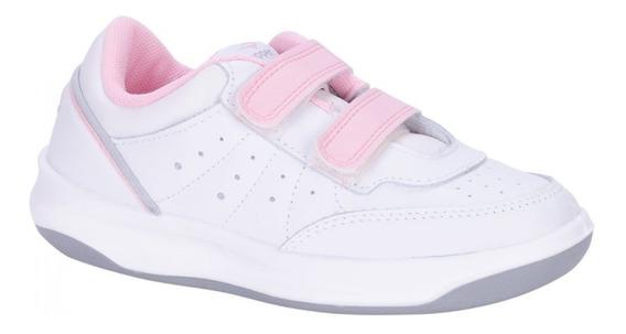 Zapatilla Topper X Forcer Kids Velcro Blanco/rosa