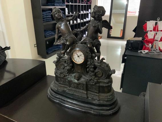 Reloj De Bronce Y Marmol