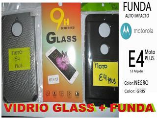 Vidrio Templado Glass | Moto E4 Plus + Estuche Moto C | Moto
