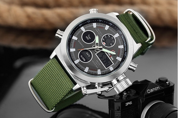 Promoção Relógio Esportivo Militar Goldenhour Analógico