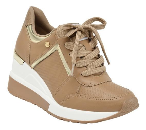 Tênis Feminino Via Marte Sneaker Casual 20120 Salto Anabela