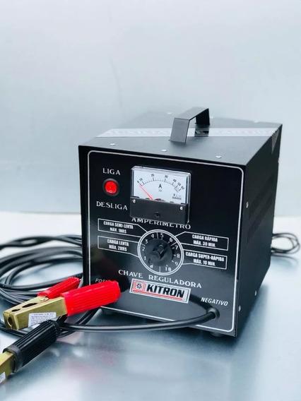 Carregador De Bateria 50 Amp. C/aux. Kitron