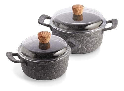 Imagen 1 de 5 de Maestro De Cocina - Set X2 Granito Cacerolas 20 & 24cm