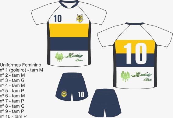 Fardamento De Futebol Uniforme Jogo 10 Camisas 10 Calção