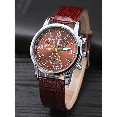 Relógio Masculino Pulseira De Couro Presente Ideal