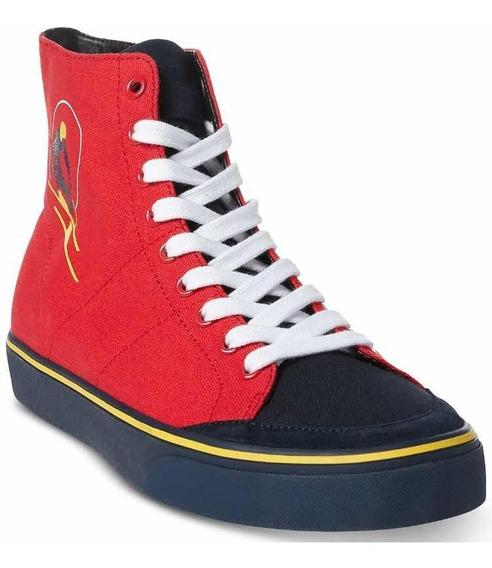 Auténticos Polo Ralph Lauren Solomon Ski Patch Sneakers 8m