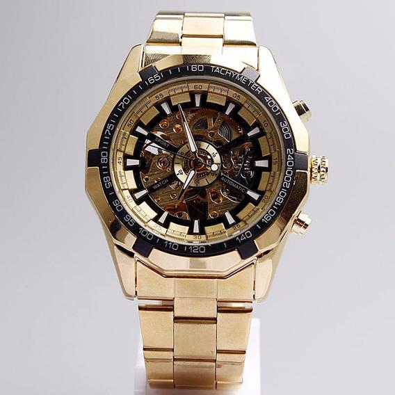 Relógio Automático Forsining Original, Aço Inoxidável