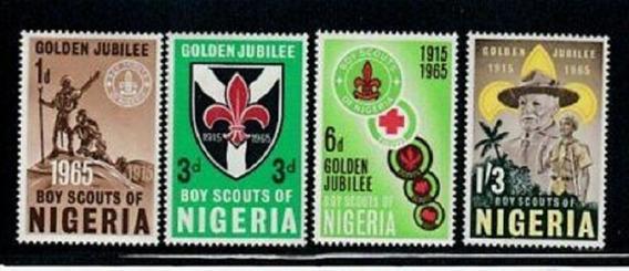 1965 Aniversario Movimiento Boy Scouts- Rep Nigeria (sellos)