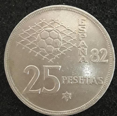 Imagem 1 de 2 de Moeda 25 Pesetas Ano 1980 Espanha Copa Mundo 1982
