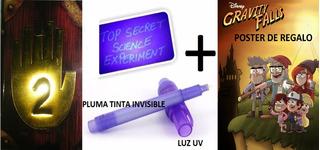 Diario 2 A Color Gravity Falls + Mensajes Luz Uv + Poster