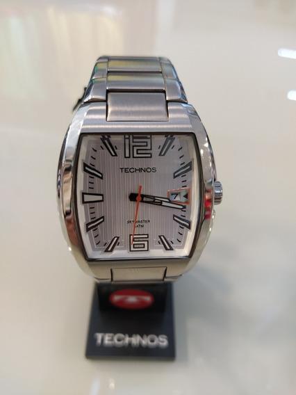 Relógio Techenos Skymaster 1 Ano De Gata + Nota Fiscal/prata