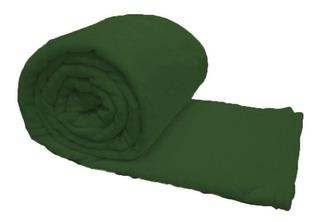 Frazada Mantra Microfibra 1 plaza verde musgo lisa