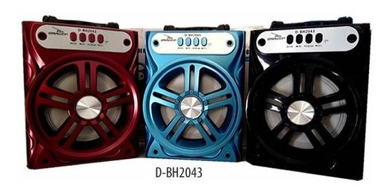 Caixa De Som Portatil Grasep Bluetooth Usb P2 D-bh2043
