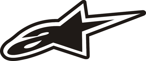 Calcos Alpinestars Originales Vinilo Sticker 16cm Motos Rp