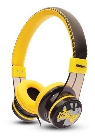 Fone De Ouvido Sport Maxprint Headphone Amarelo Celular