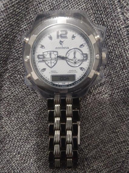 Relógio Aço Inox Excelente A Prova Dágua