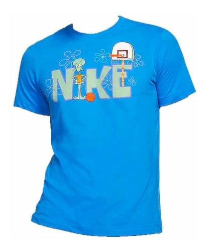 Primero Pogo stick jump esposa  Playera Kyrie X Nike X Bob Esponja Calamardo Azul | Mercado Libre