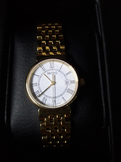 Mido Dorada M21303261 Reloj Dama Dorado Nuevito Con Etiqueta