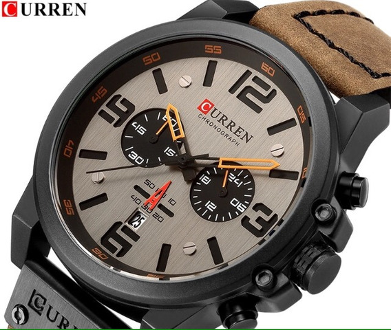 2 X Relógios Barato Super Luxo Couro Aço Inoxidável Oferta