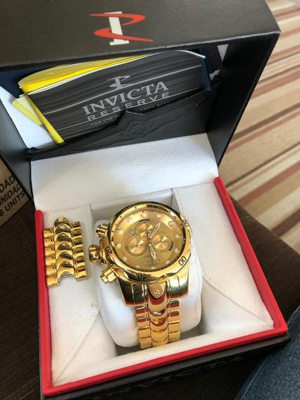 Relógio Invicta 14503 Dourado 18k Aço Inox 53.7mm - Reserve