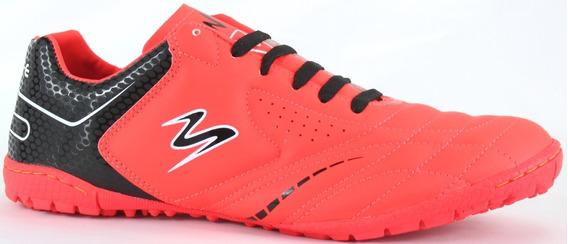 Tenis Futbol Rapido Modelo 428 Rojo/ Negro/ Negro