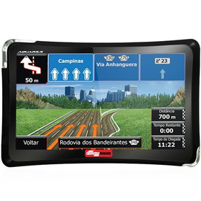 Gps Guia Quatro Rodas Aquarius 4,3 Touch Screen + Tv Usb