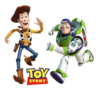 Toy Story Pack: Woody Y Buzz - Stickers Adhesivos Gigantes
