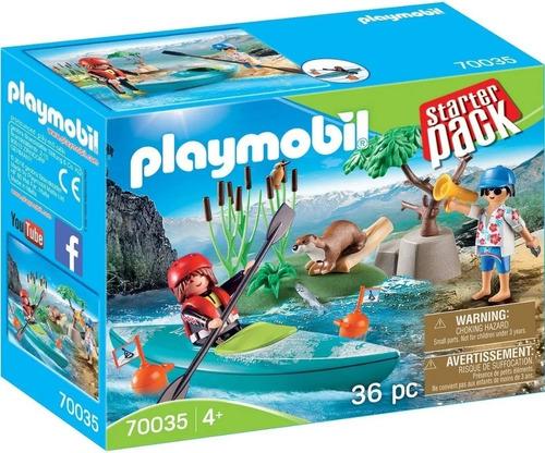 Playmobil Starter Pack - Aventura En Kayak - 70035