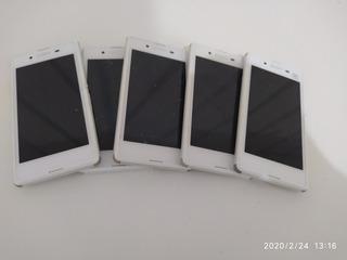 Lote 5 Celulares Sony Xperia E3 Branco