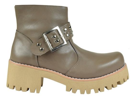 Botas Botinetas Mujer Borcegos Plataforma Moda Invierno Angies Shoes (3080)