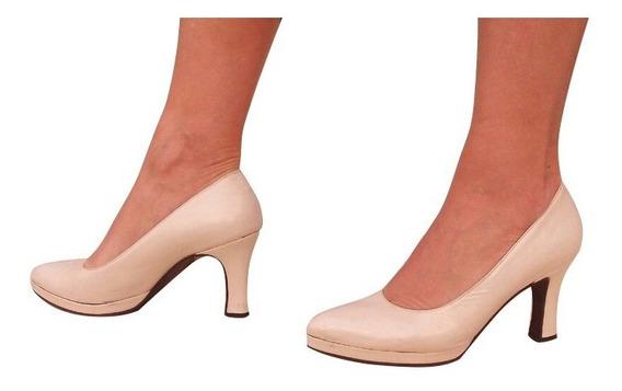 Zapatos Cabritilla Blanco Perlado Ideal Para Novias T 36