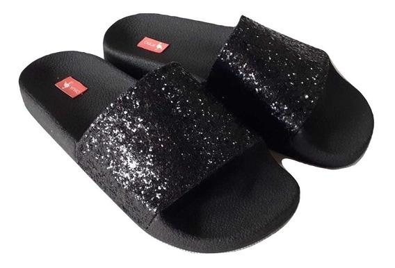 Sandalias Mujer Verano Moda Glitter