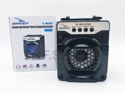 Caixa De Som Portátil Bluetooth Mp3 Fm Usb Micro Sd D-bh1050