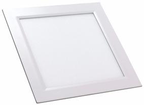 Kit 06 Luminaria Painel Plafon Led 18w Embutir Frio Quadrado
